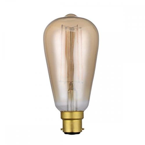 Dar Pack Of 5 B22 4w LED Dimmable Vintage Rustic Lamp